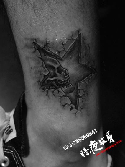 上海纹身店暗香纹身作品:五角星纹身