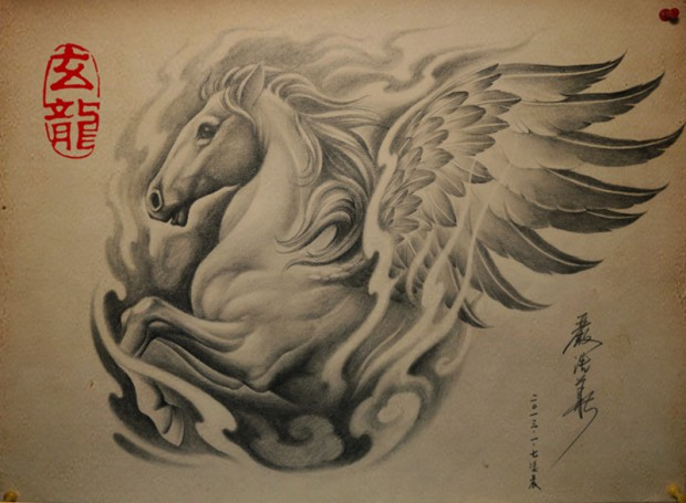 纹身图案大全|百合花纹身|百合花纹身图案|百合花