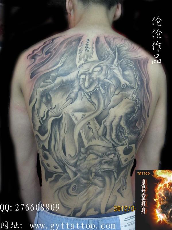 合肥鬼异堂纹身店:黑白无常纹身图案