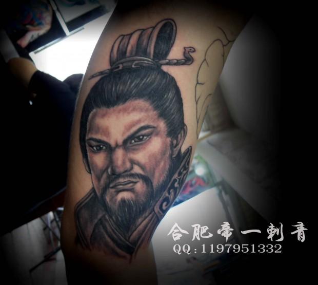 合肥帝一纹身店作品:人物肖像纹身图案