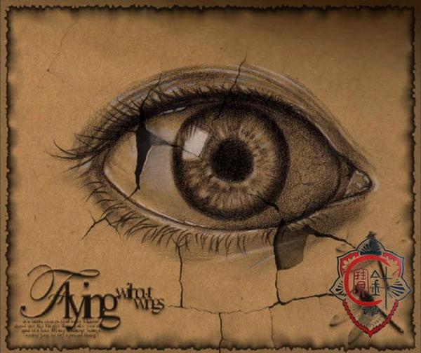 眼睛纹身手稿图案-天津宝针刺青店纹身作品