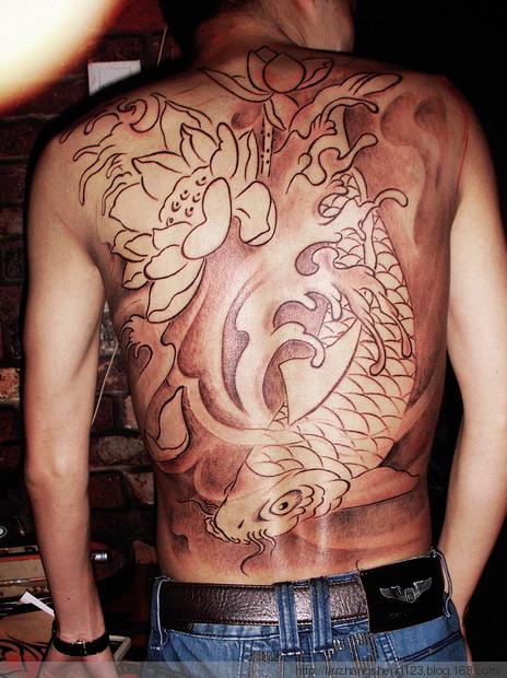 南昌针语纹身店作品:满背纹身图案