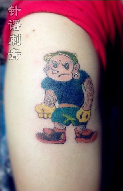 南昌针语纹身店作品:手臂卡通纹身图案
