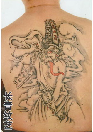 后背黑白无常纹身图案-阜阳纹身店推荐